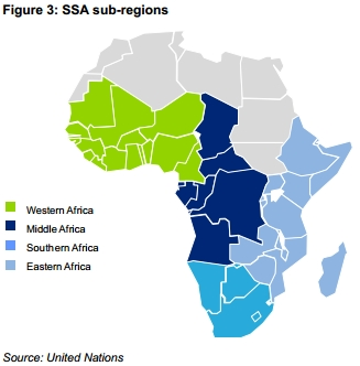 SubSahara Africa Emerges Hottest Growth Mobile Market IT Eco - Regions of africa