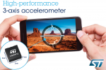 STMicroelectronics reveals advanced MEMS accelerometers engineered to withstand stresses of modern mobile life