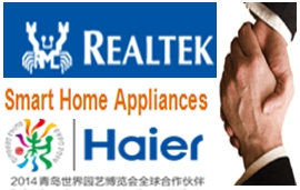 Haier smart home U+ platform powered by Realtek Wi-Fi solutions