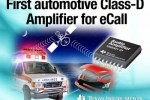 TI introduces first fully integrated mono, Class-D audio amplifier for telematics