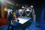 First demonstration of OMRON's ping-pong robot in Japan